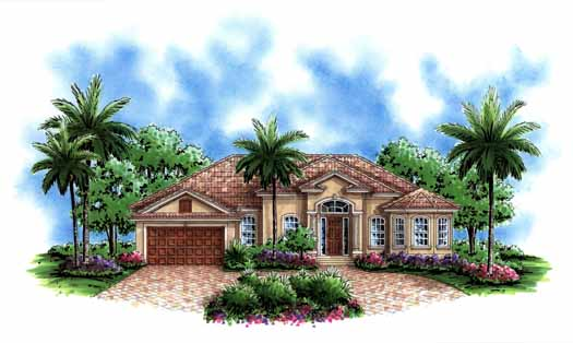 Mediterranean Style House Plans Plan: 55-182
