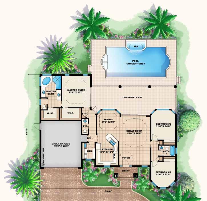 Main Floor Plan: 55-182