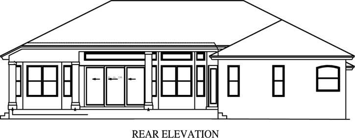 Rear Elevation Plan: 55-182