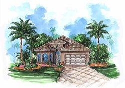 Mediterranean Style Home Design Plan: 55-183