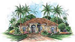 Mediterranean Style House Plans Plan: 55-187