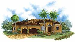 Mediterranean Style Home Design Plan: 55-189