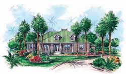 Coastal Style Floor Plans Plan: 55-190