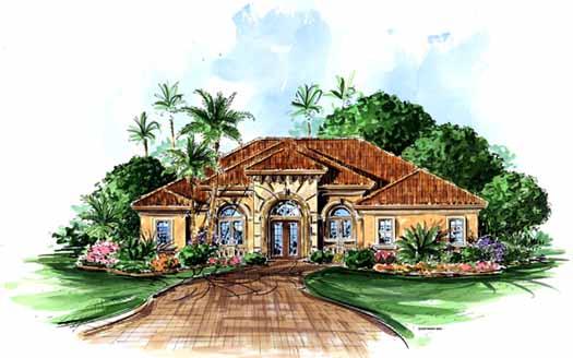 Mediterranean Style House Plans Plan: 55-191