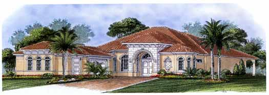 Mediterranean Style House Plans Plan: 55-196