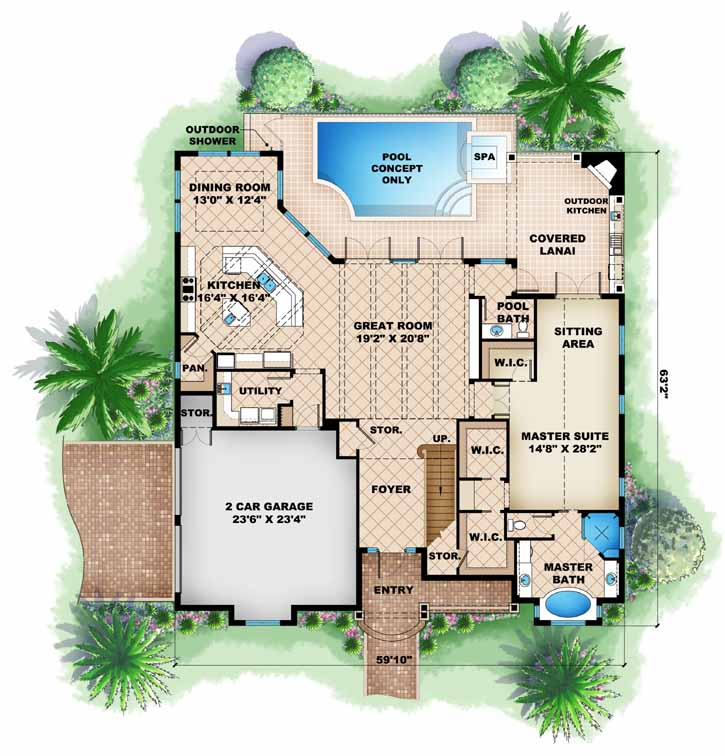 Main Floor Plan: 55-212
