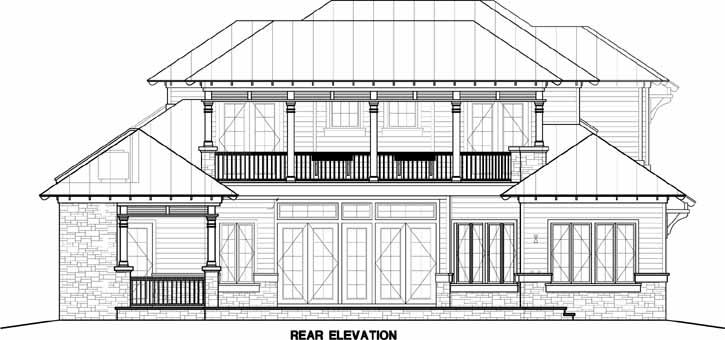 Rear Elevation Plan: 55-212