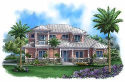 Coastal Style Home Design Plan: 55-212