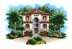 Mediterranean Style House Plans Plan: 55-216