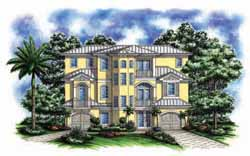 Coastal Style House Plans Plan: 55-222