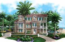 Coastal Style Floor Plans Plan: 55-223