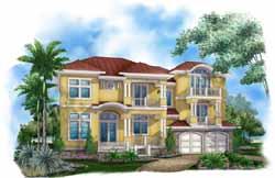 Coastal Style House Plans Plan: 55-225