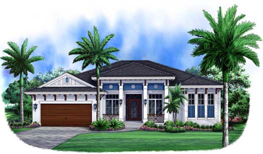 Coastal Style Floor Plans Plan: 55-229