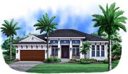 Coastal Style Home Design Plan: 55-229