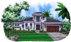 Coastal Style Home Design Plan: 55-230