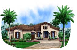 Mediterranean Style House Plans Plan: 55-234