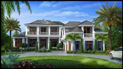 Coastal Style Floor Plans Plan: 55-238
