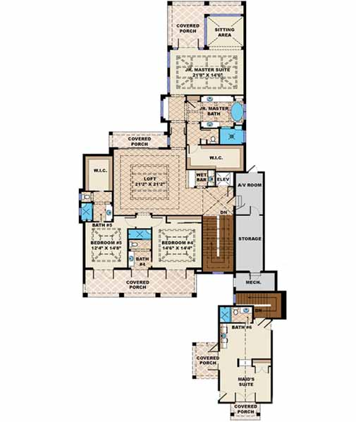 Upper/Second Floor Plan: 55-238