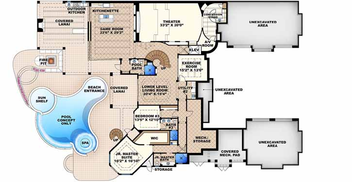 Lower Floor Plan:55-240