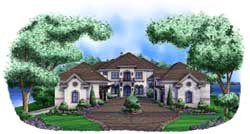 Tuscan Style Floor Plans Plan: 55-240