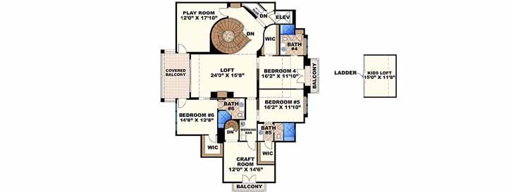 Upper/Second Floor Plan:55-240