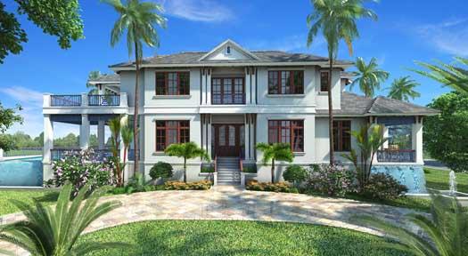 Coastal Style House Plans Plan: 55-241