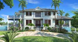 Coastal Style Home Design Plan: 55-241