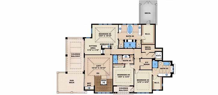 Upper/Second Floor Plan: 55-241