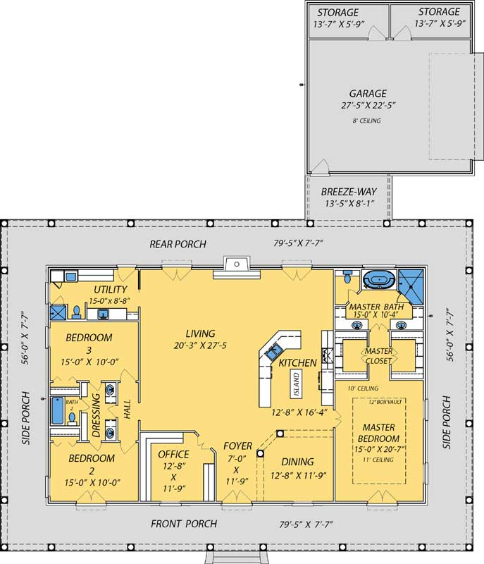 Main Floor Plan: 56-103