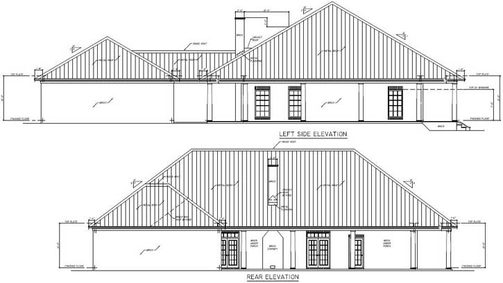 Rear Elevation Plan: 56-103