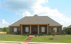 Southern Style Home Design 56-111