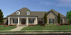 Southern Style Floor Plans Plan: 56-134