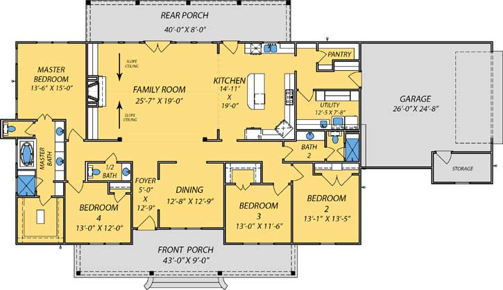 Main Floor Plan: 56-200