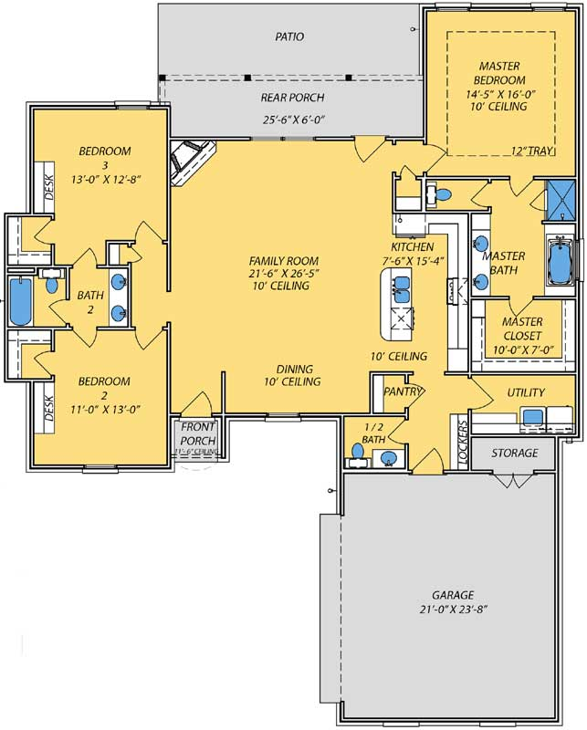Main Floor Plan: 56-203