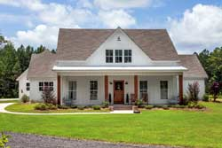 Modern-Farmhouse Style Home Design Plan: 56-207