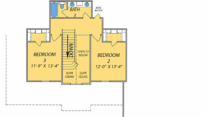 Upper/Second Floor Plan: 56-225