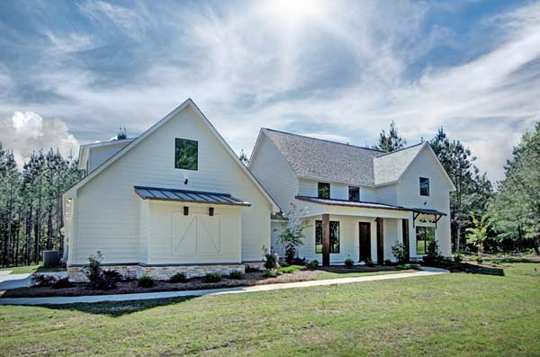 Modern-farmhouse Style Home Design Plan: 56-232