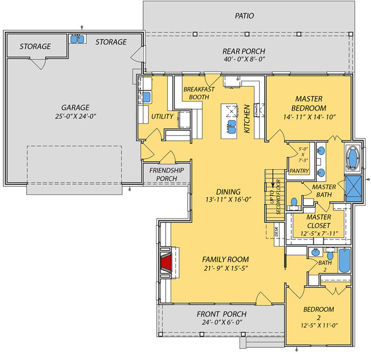 Main Floor Plan: 56-237