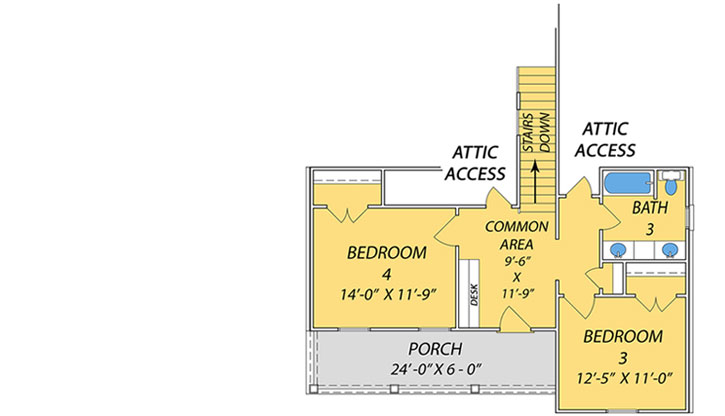 Upper/Second Floor Plan: 56-237
