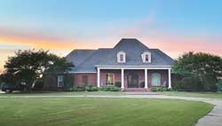 Southern Style Home Design Plan: 56-243