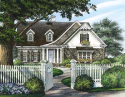 Cottage Style Home Design Plan: 57-107