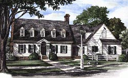 Southern Style Home Design Plan: 57-109