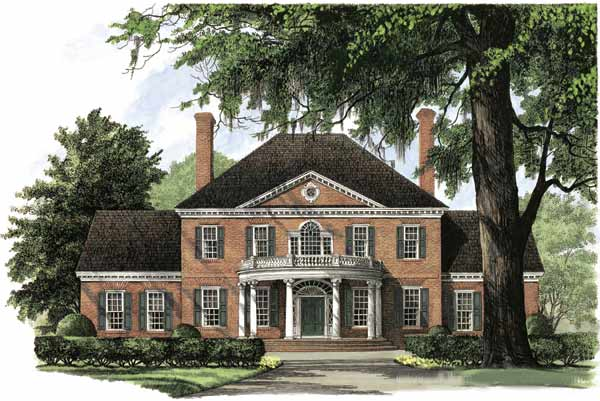 Georgian Style House Plans 57-111