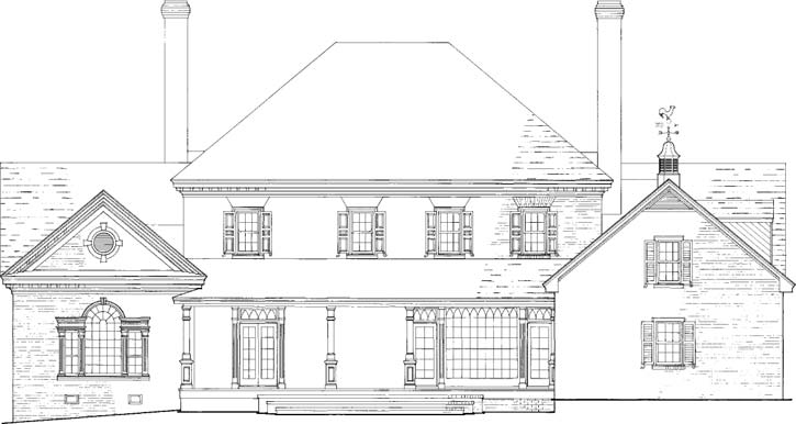 Rear Elevation Plan: 57-111