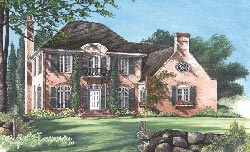 French-Country Style Floor Plans Plan: 57-113