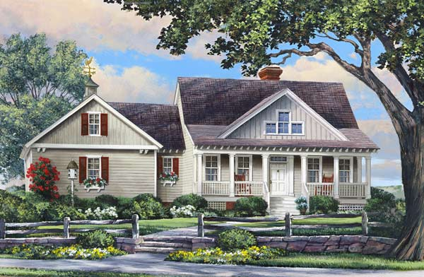Country Style Floor Plans Plan: 57-114
