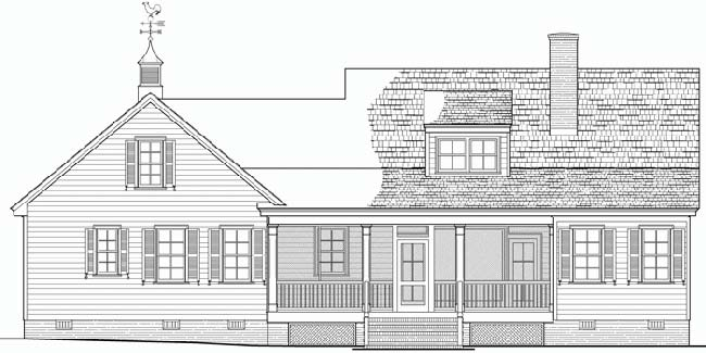 Rear Elevation Plan: 57-114