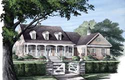 Country Style Home Design Plan: 57-119