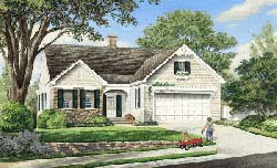 Ranch Style Home Design Plan: 57-120