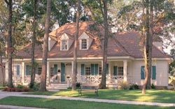 Southern-Colonial Style Home Design Plan: 57-121